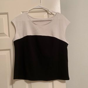Tops - Black and White Blouse